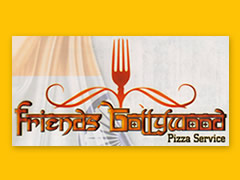 Friends Bollywood Pizza Service Logo